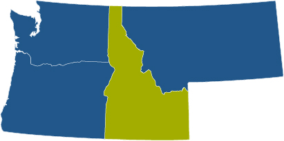 idaho state map